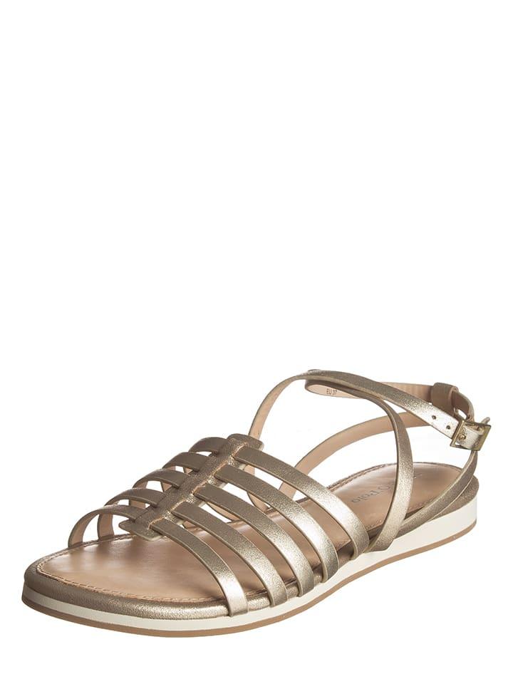 Marc O'Polo Shoes Leder-Sandaletten in Gold