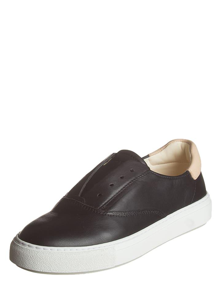 Marc O'Polo Shoes Leder-Slipper in Schwarz