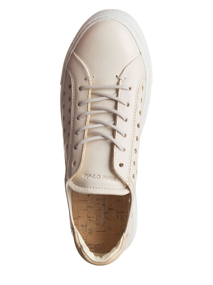 Marc O'Polo Shoes Leder-Sneakers in Creme