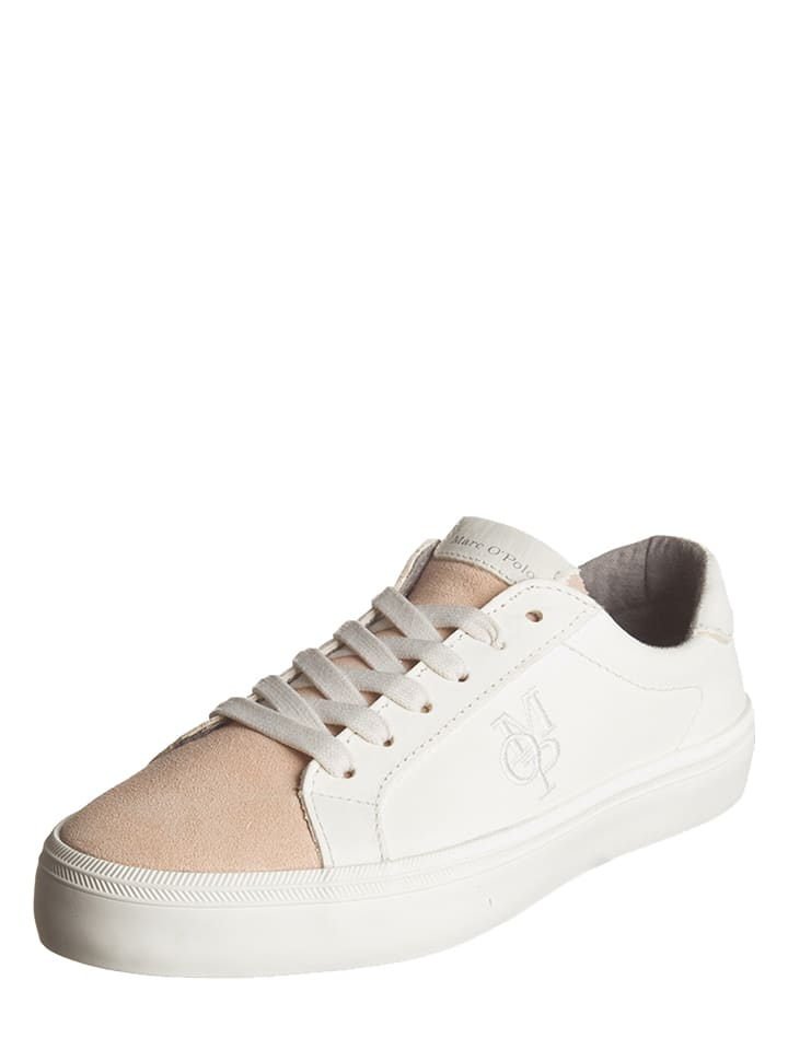 Marc O'Polo Shoes Leder-Sneakers in Creme/ Rosa