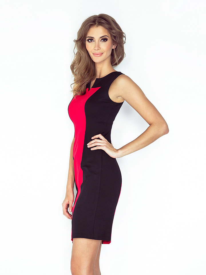 MORIMIA Kleid in Rot/ Schwarz