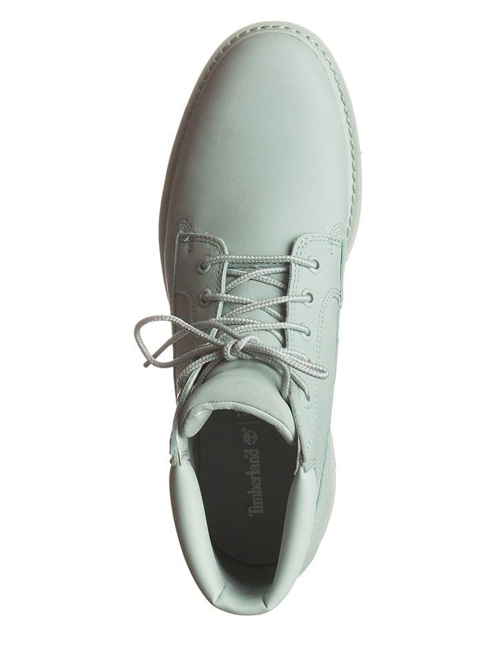 Timberland Leder-Boots in Hellgrün