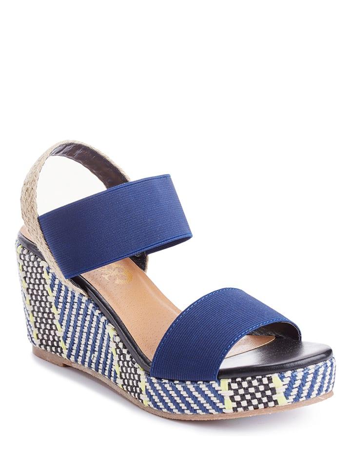 Azur Sandaletten in Blau