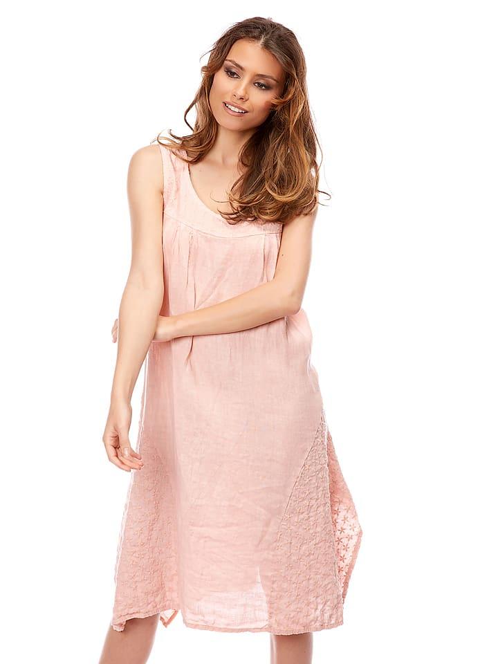 """Bagatelle Leinen-Kleid """"Vitalis"""" in Rosa"""