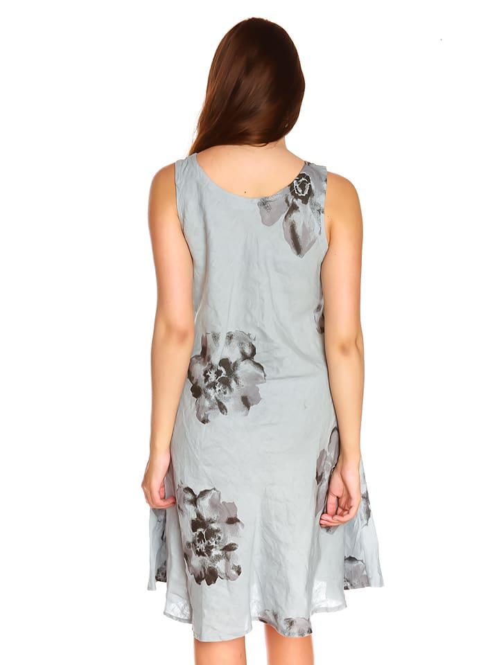 """La Belle Francaise Leinen-Kleid """"Noemie"""" in Hellgrau"""