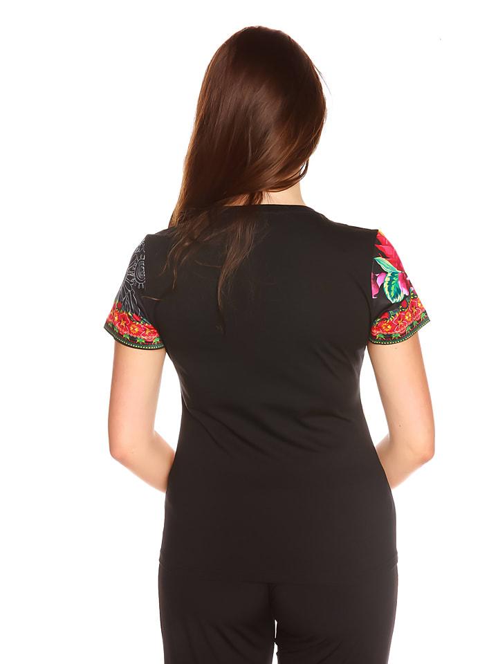 "La Belle Francaise Shirt ""Alessandra"" in Schwarz/ Bunt"