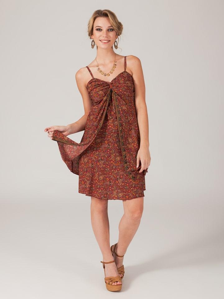 Aller Simplement Kleid in Rostrot