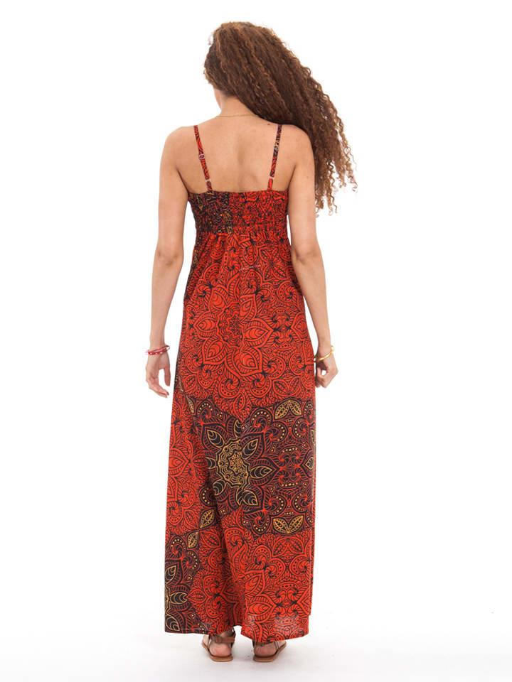 Aller Simplement Kleid in Rot/ Dunkelrot