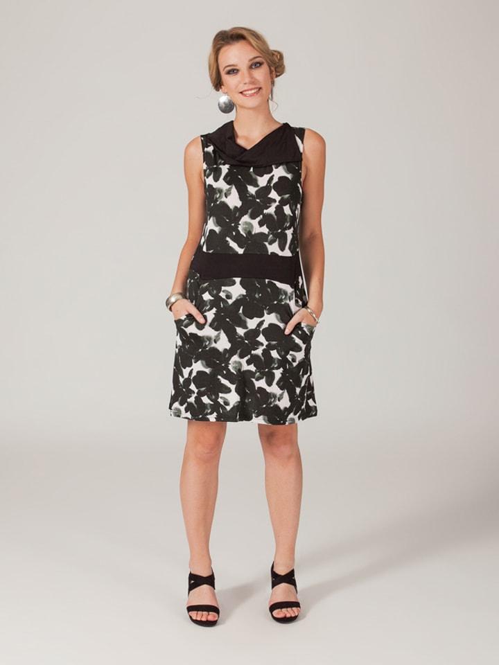 Aller Simplement Kleid in Schwarz/ Weiß