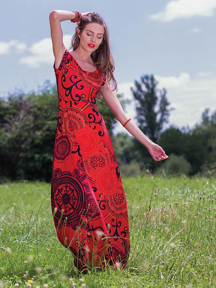 Aller Simplement Kleid in Rot