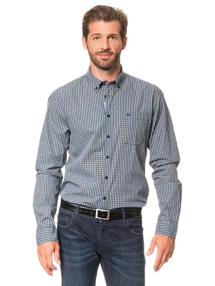 "Camel Active Hemd ""Jack"" - Regular fit - in Blau/ Grau"