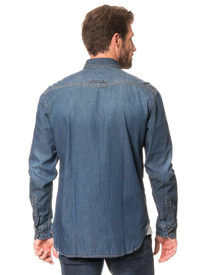 "Camel Active Jeanshemd ""Pat"" - Regular fit - in Blau"