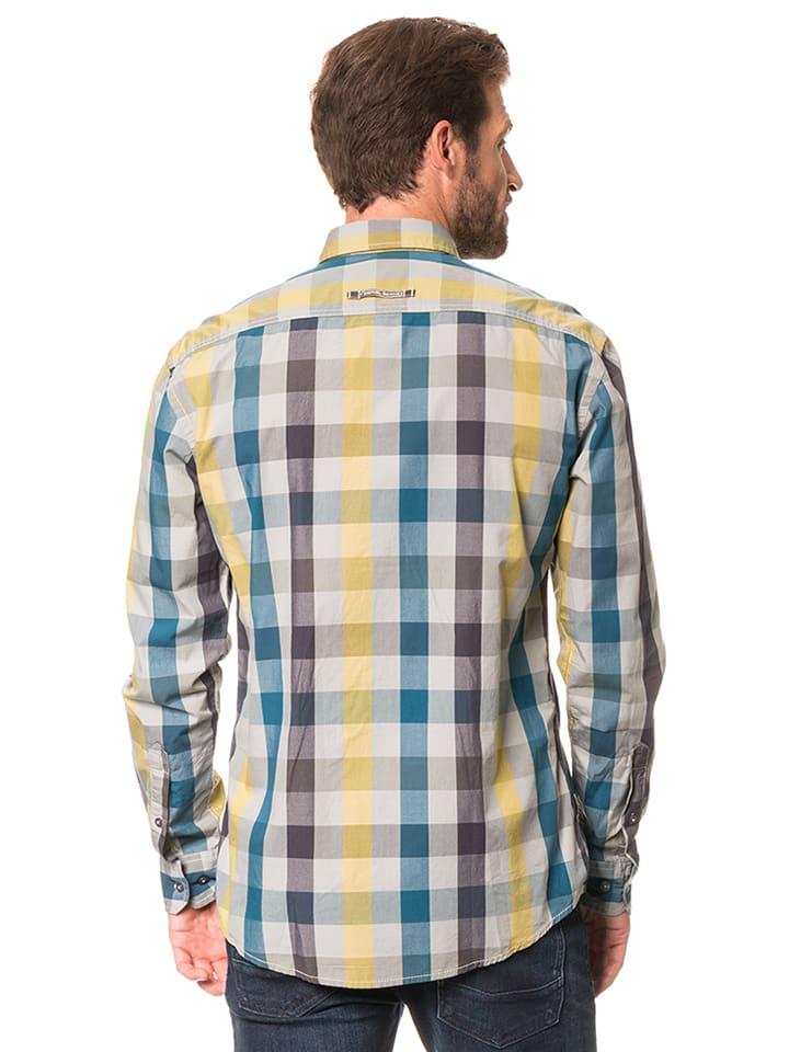"""Camel Active Hemd """"Dan"""" - Regular fit - in Grau/ Bunt"""