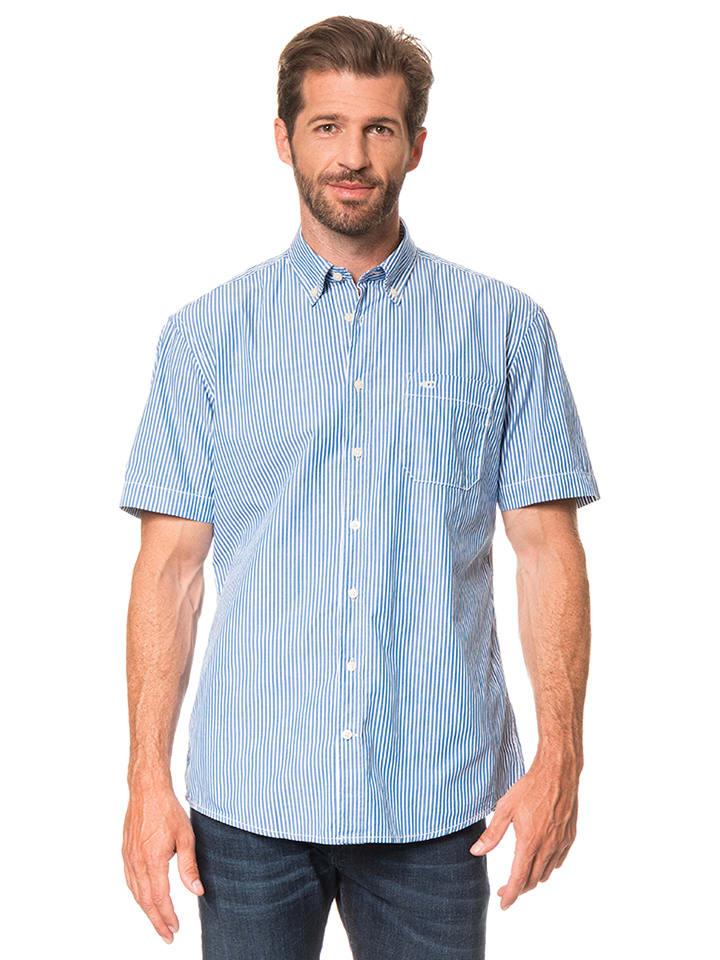 "Camel Active Hemd ""Jack"" - Regular fit - in Blau/ Weiß"