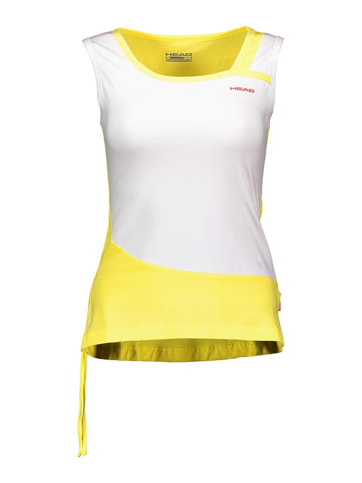 HEAD Funktionstop in Weiß/ Gelb