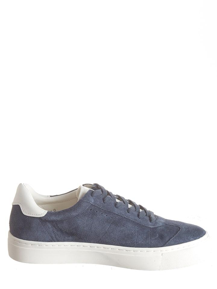 """ESPRIT Leder-Sneakers """"Crosty Lu"""" in Blau"""