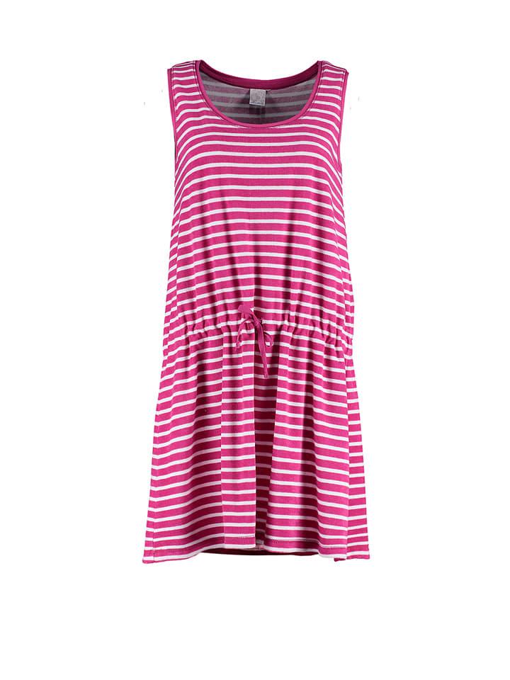 """Deerberg Kleid """"Lena"""" in Pink/ Weiß"""