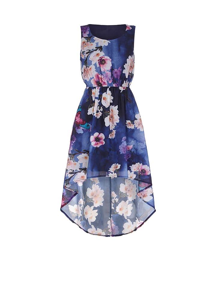 Iska Kleid in Blau/ Bunt