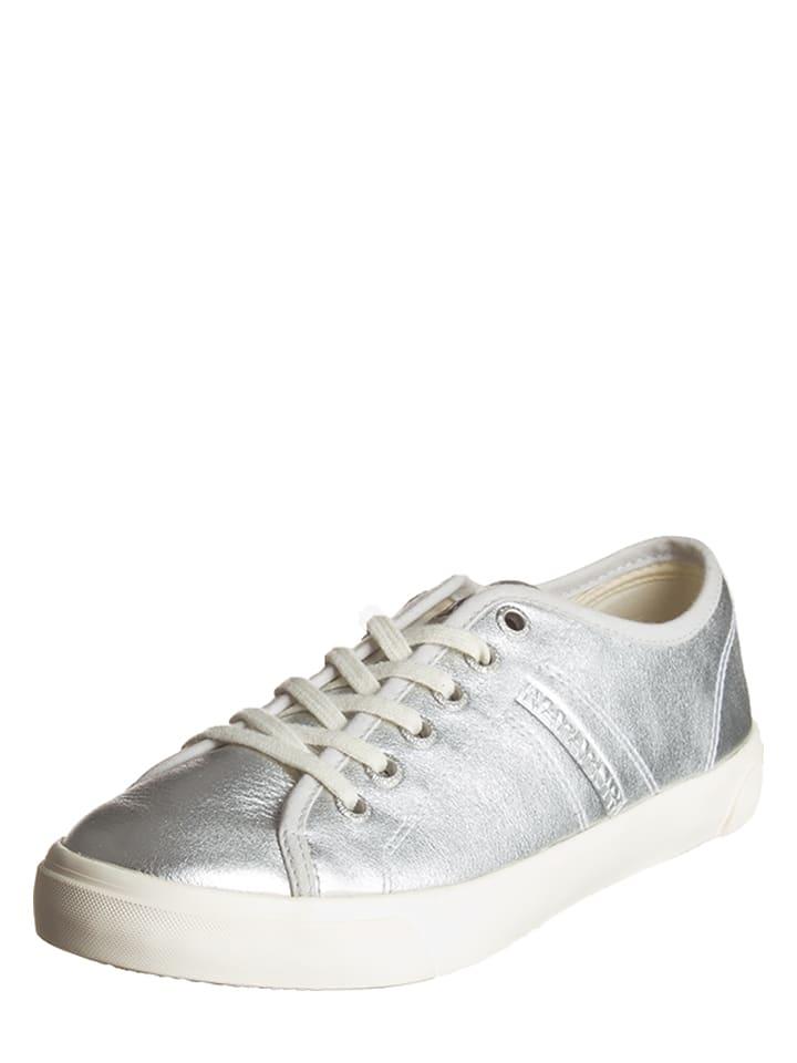 """Napapijri Leder-Sneakers """"Mia"""" in Silber"""