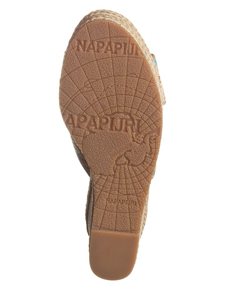"Napapijri Leder-Pantoletten ""Esther"" in Hellbraun"