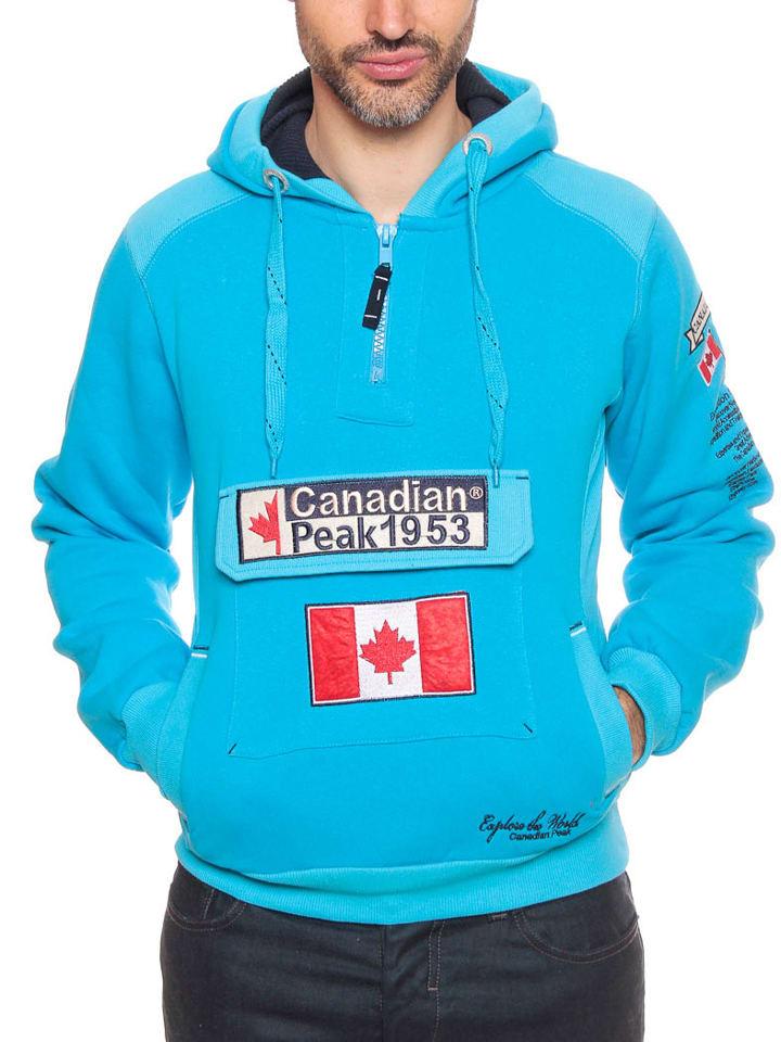 """Canadian Peak Sweatshirt """"Galapagos"""" in Türkis"""