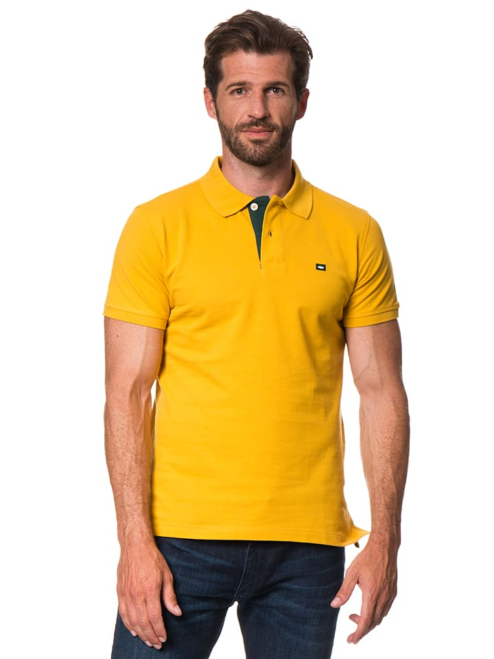 Cross Jeans Poloshirt in Gelb