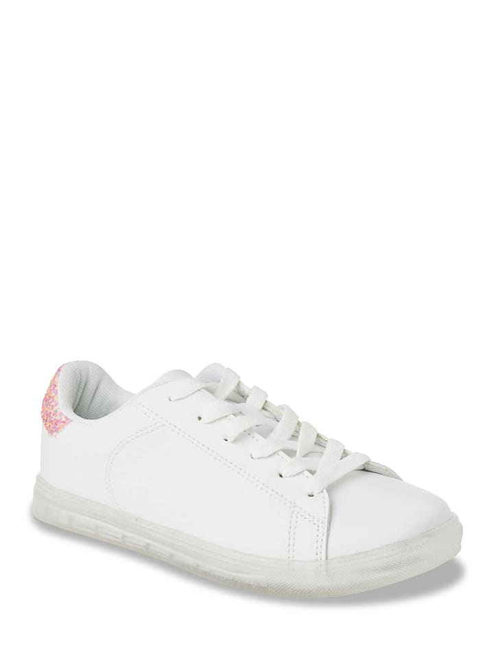 Initiale Paris Sneakers in Weiß/ Pink