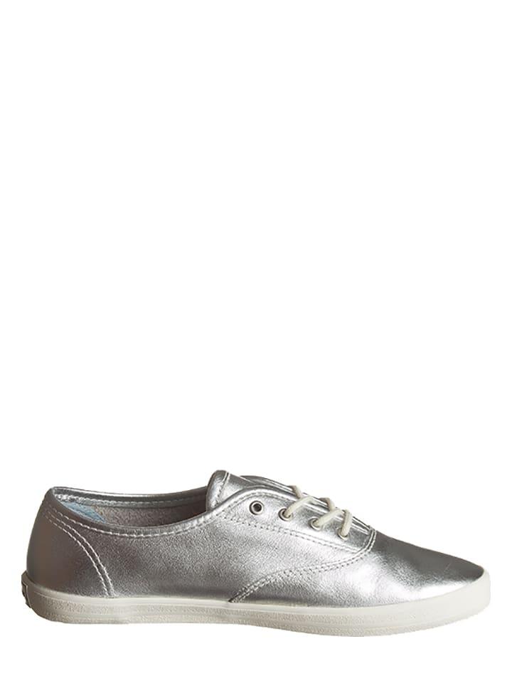 """GANT Footwear Leder-Sneakers """"New Haven"""" in Silber"""