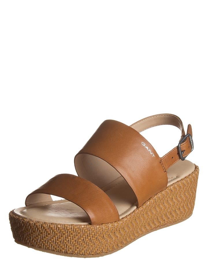 """GANT Footwear Leder-Sandaletten """"Judith"""" in Hellbraun"""