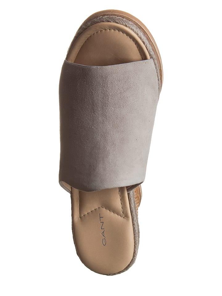 """GANT Footwear Leder-Pantoletten """"Melissa"""" in Grau"""