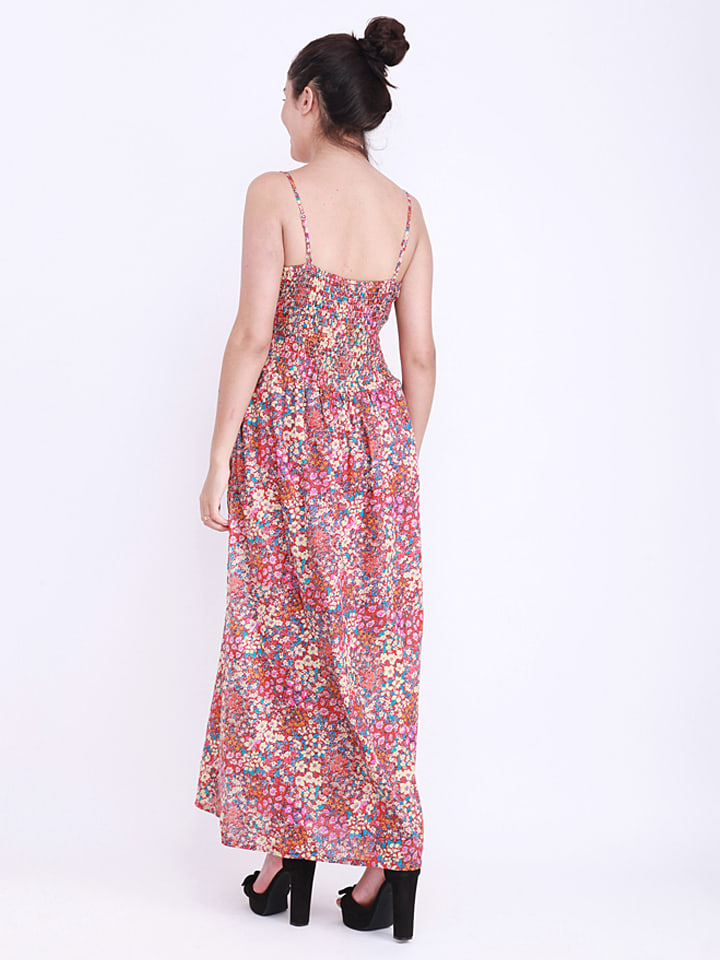 Anmol Kleid in Rot/ Bunt