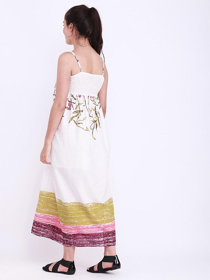 Anmol Kleid in Weiß/ Bunt