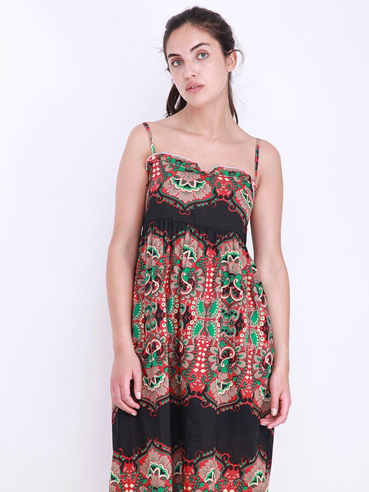 Anmol Kleid in Schwarz/ Bunt