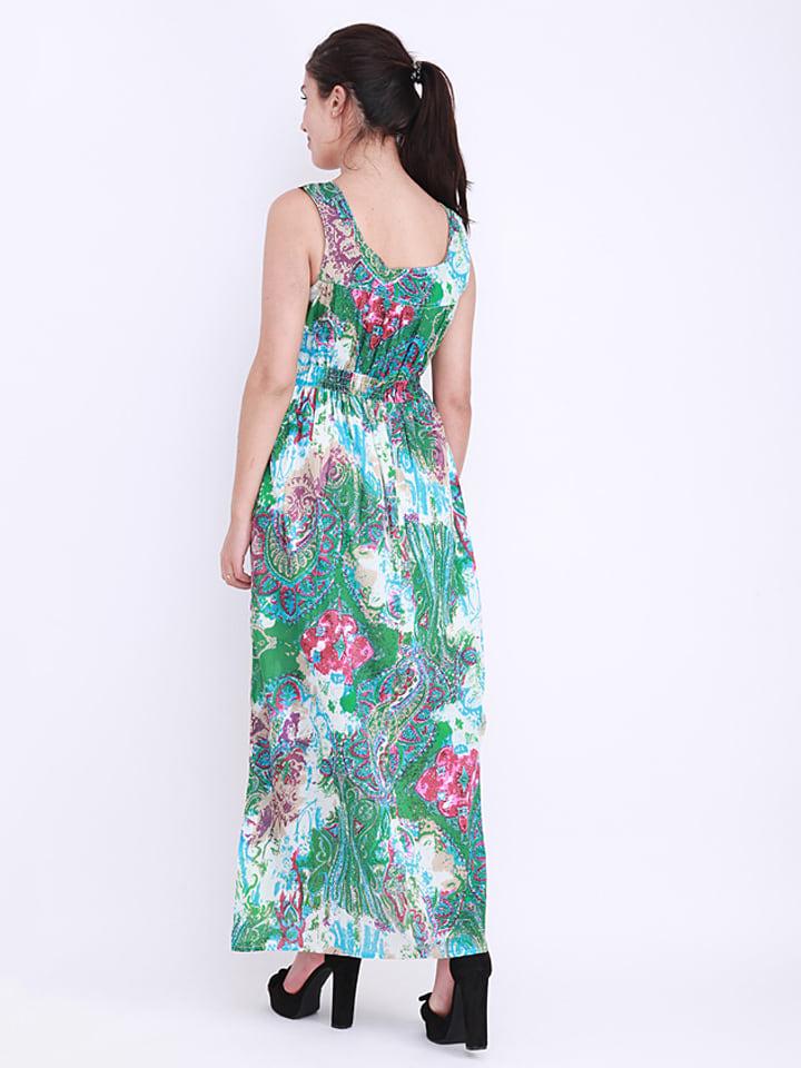Anmol Kleid in Grün/ Bunt