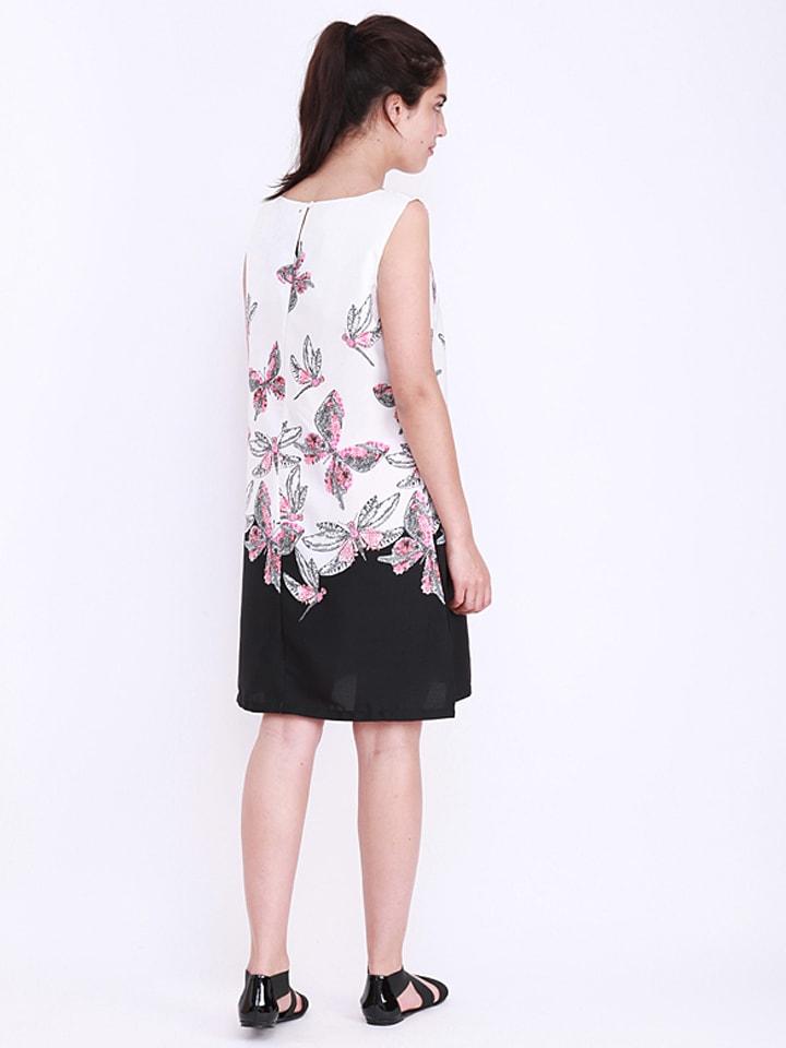 Kushi Kleid in Weiß/ Schwarz