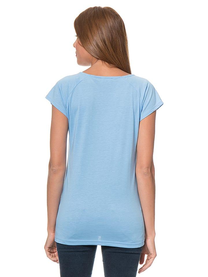 Blue Seven Shirt in Hellblau/ Weiß