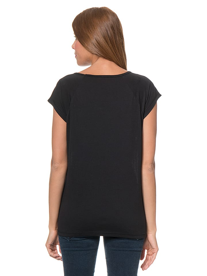 Blue Seven Shirt in Schwarz/ Weiß