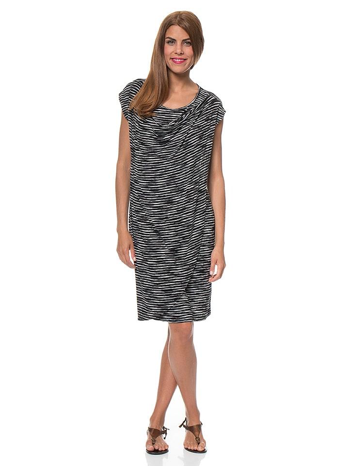Blue Seven Kleid in Schwarz/ Weiß
