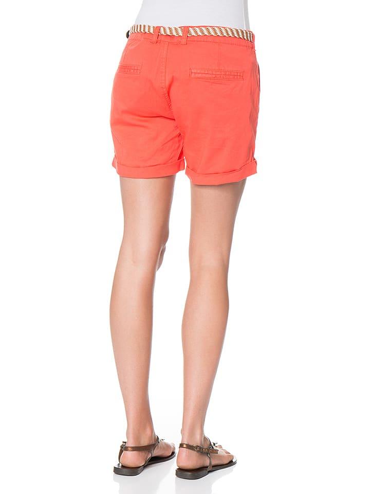 Blue Seven Shorts in Orange