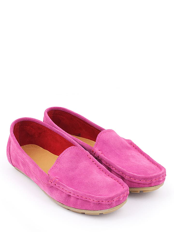 Zapato Leder-Mokassins in Fuchsia