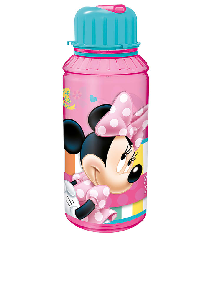 "Disney Minnie Mouse Kolorowy bidon ""Minnie"" ze słomką do picia - 430 ml"