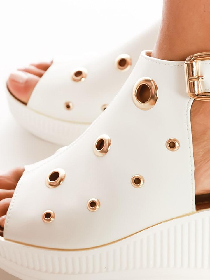 """Scarlet Jones Keil-Sandaletten """"Leana"""" in Weiß"""