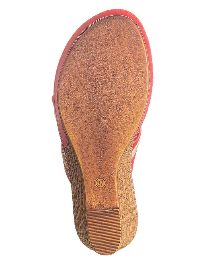 Cassis Côte d'Azur Pantoletten in Rot