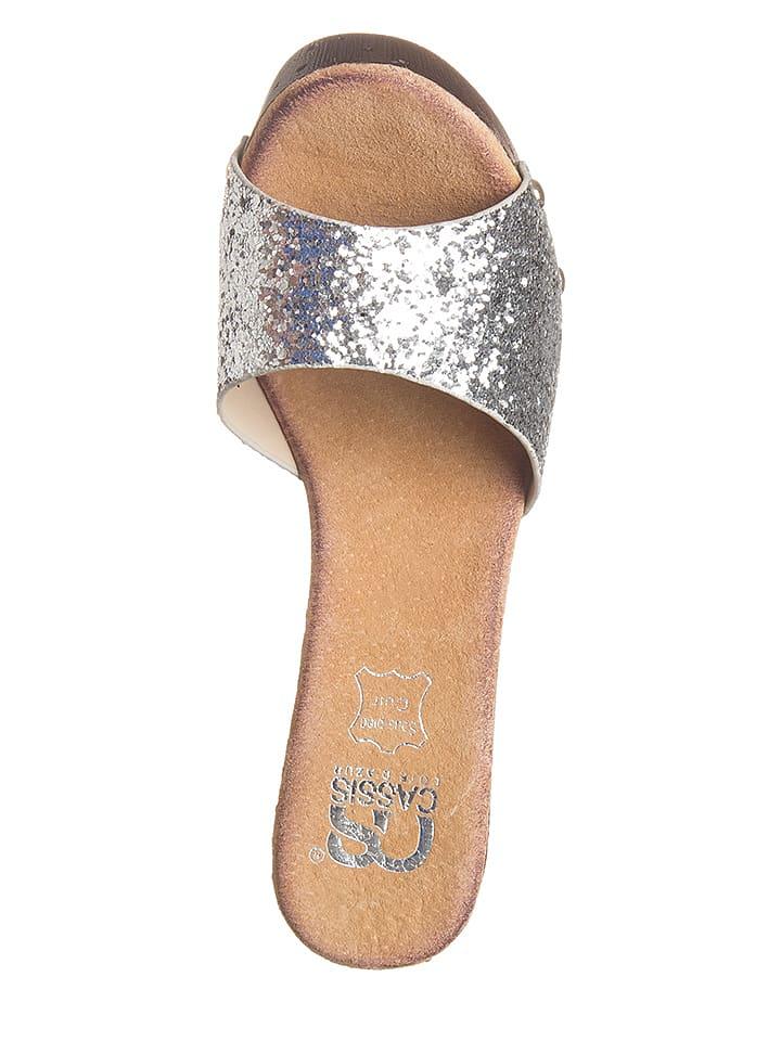 Cassis Côte d'Azur Pantoletten in Silber