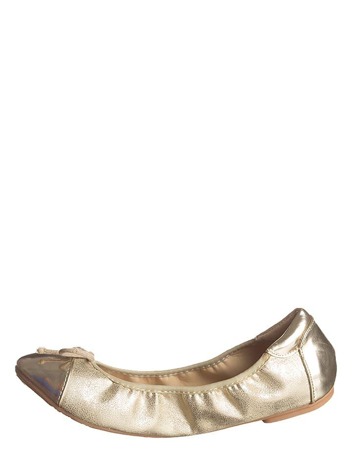 Cassis Côte d'Azur Ballerinas in Gold