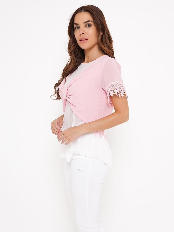 "Madison Harmonie Shirt ""Lucie"" in Rosa/ Weiß"