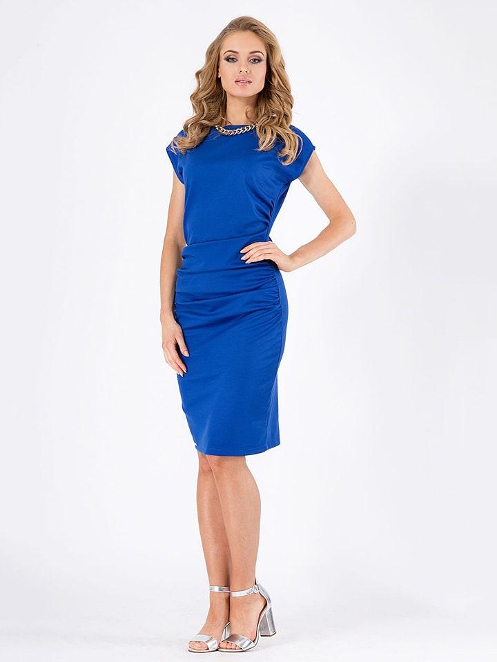 Makadamia Kleid in Blau