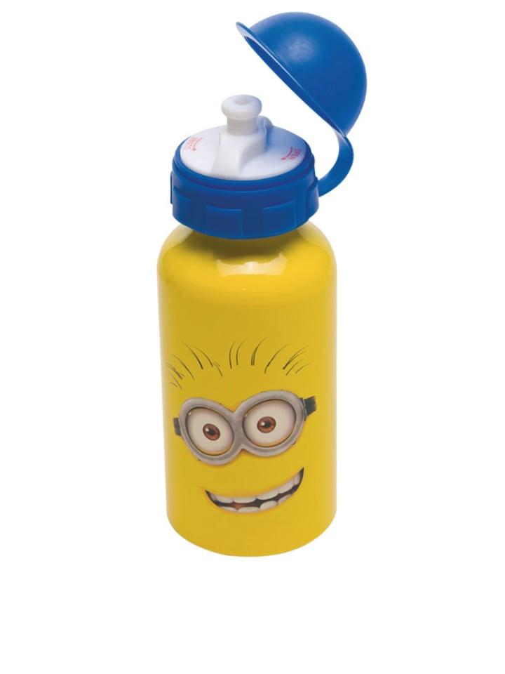 """JOY TOY Bidon """"Minions"""" w kolorze żółto-niebieskim - 400 ml"""