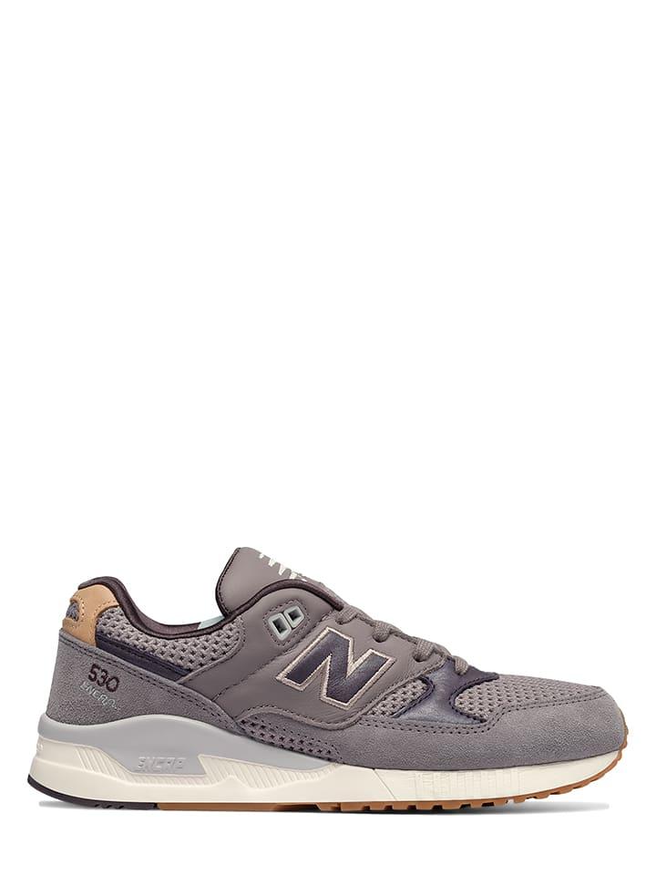 new balance leder sneaker beige