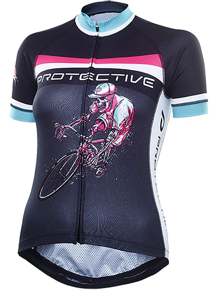 "Protective Fahrradtrikot ""Hellrider"" in Schwarz"